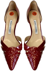 Manolo Blahnik Patent Leather Red Pumps