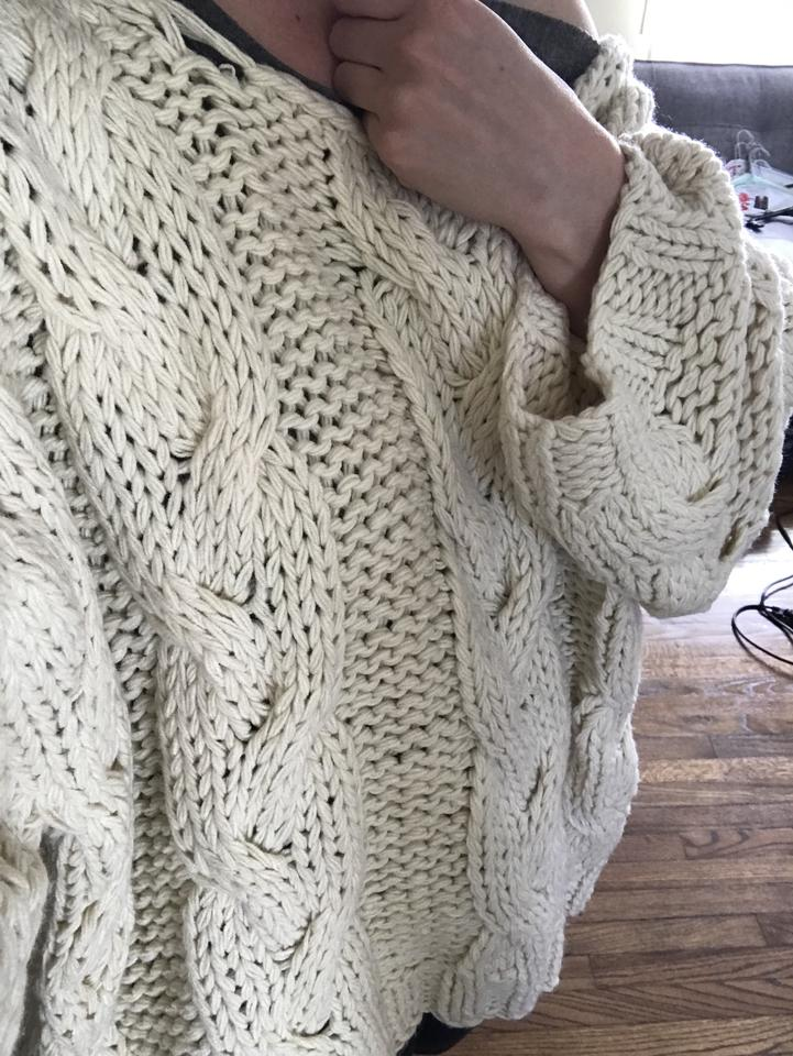 b9945bfe3d Vicini Vici Oversized Knitted Winter Sweater. 123456789