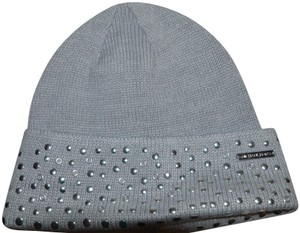 Michael Kors NWT MICHAEL KORS STUDDED BEANIE WINTER HAT GREY ONE SIZE 85e360ef1482