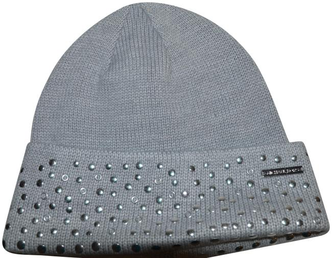 Item - Grey Silver Studded Beanie Winter One Size Hat