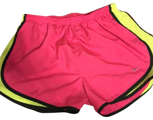 Item - Hot Pink Lime Green Dri Fit Running Activewear Bottoms Size 12 (L)