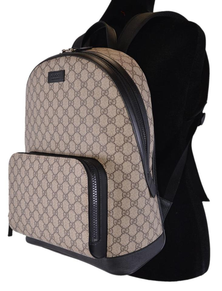 Gucci New 406370 Guccissima Beige Gg Supreme Coated Canvas Backpack ... 080eca0f997c4