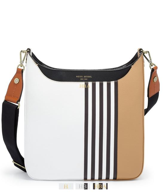 Item - Bowery Color Blocked Brown Black White Leather Messenger Bag