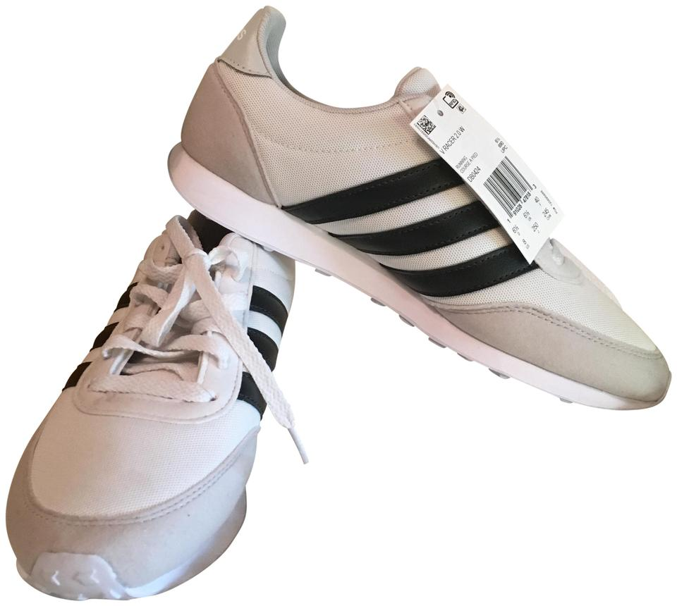 low priced dcdb6 77ad4 adidas White Black V Retro Racer Sneakers