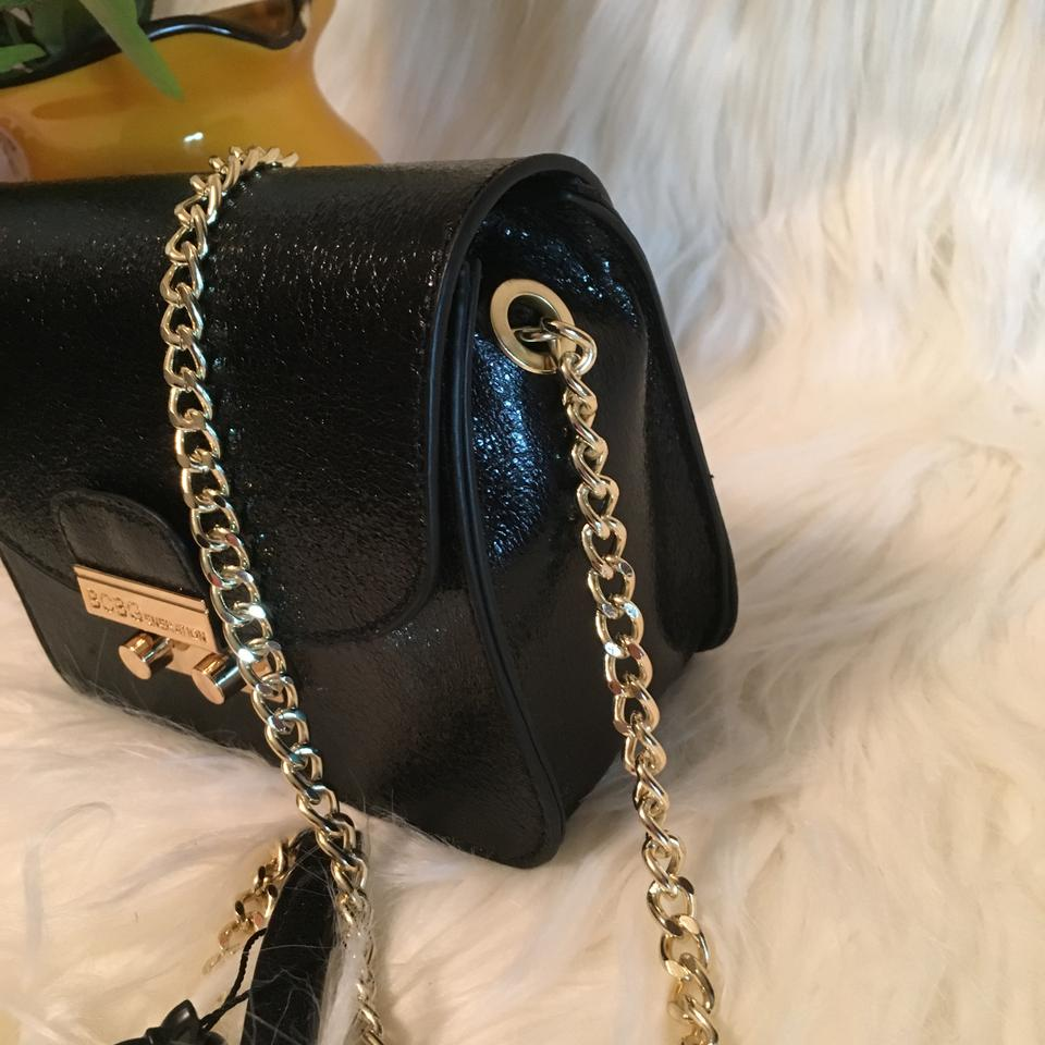 3f13cddd5f BCBGeneration Milly Quilted Black Faux Leather Cross Body Bag - Tradesy