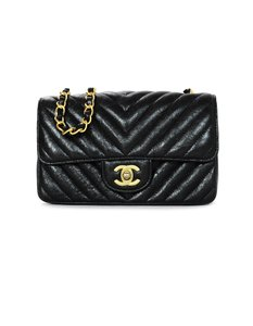 67d6d91128df Added to Shopping Bag. Chanel Cc Quilted Cross Body Bag. Chanel Classic  Flap 2018 Chevron Quilted Rectangular Mini Metallic Black ...