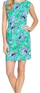 Tracy Reese short dress Blue and Green on Tradesy