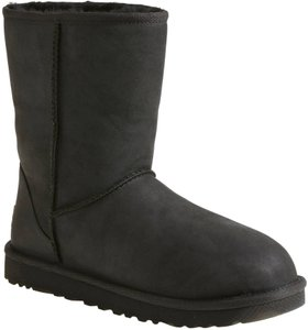 UGG Australia Short Leather Black Boots