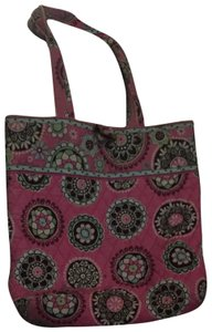 Vera Bradley Tote in Bubble Gum Pink w Brown Accents 48c0bd4c5c327