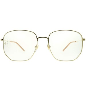 f79871061cd Gucci NEW Gucci 0396S Metal Oversized Angled Round Clear Lens Sunglasses