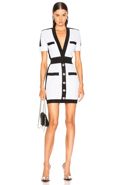 Preload https://img-static.tradesy.com/item/24664035/dior-bella-black-and-white-button-front-bandage-short-cocktail-dress-size-2-xs-0-0-650-650.jpg