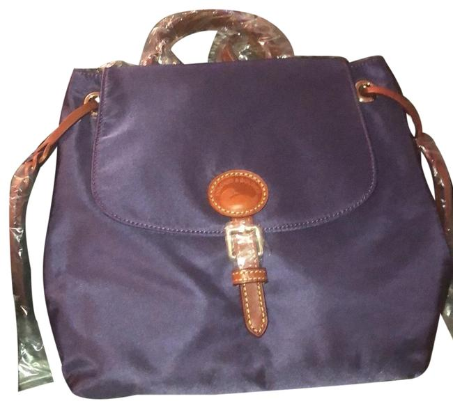 Item - Plum Wine Nylon and Leather Backpack