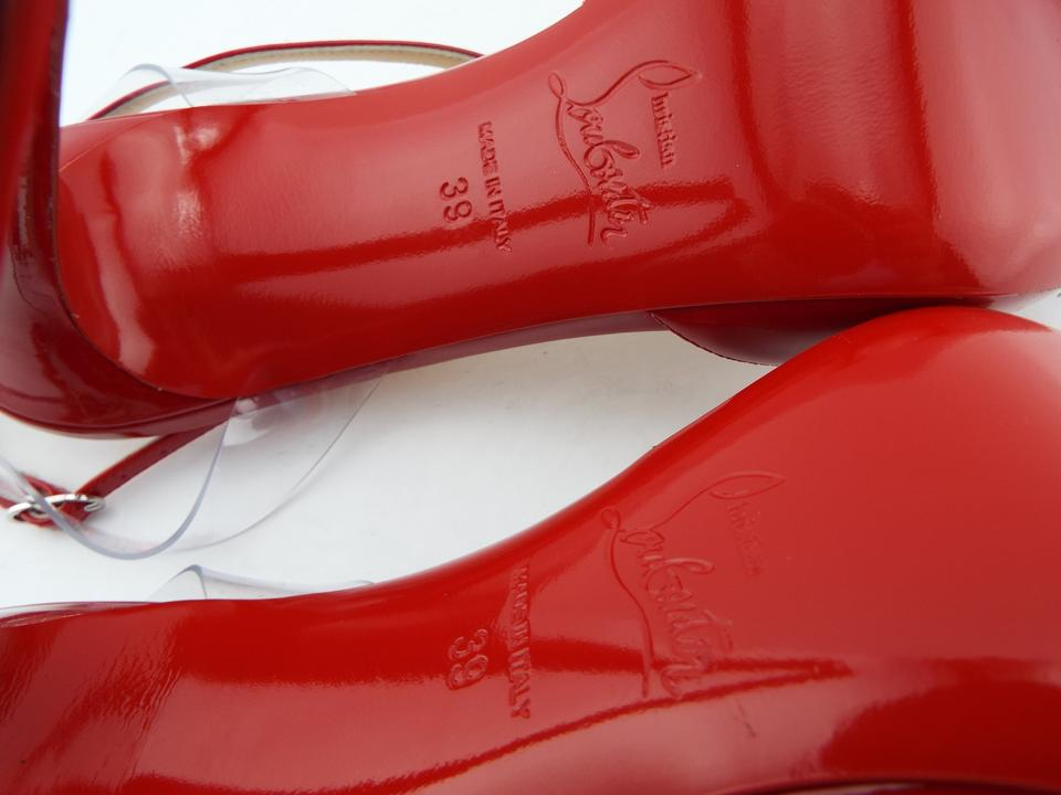 4151c5c7e978 Christian Louboutin Cupidetta Pigalle Clear Nosy Jonatina Red Pumps Image  8. 123456789
