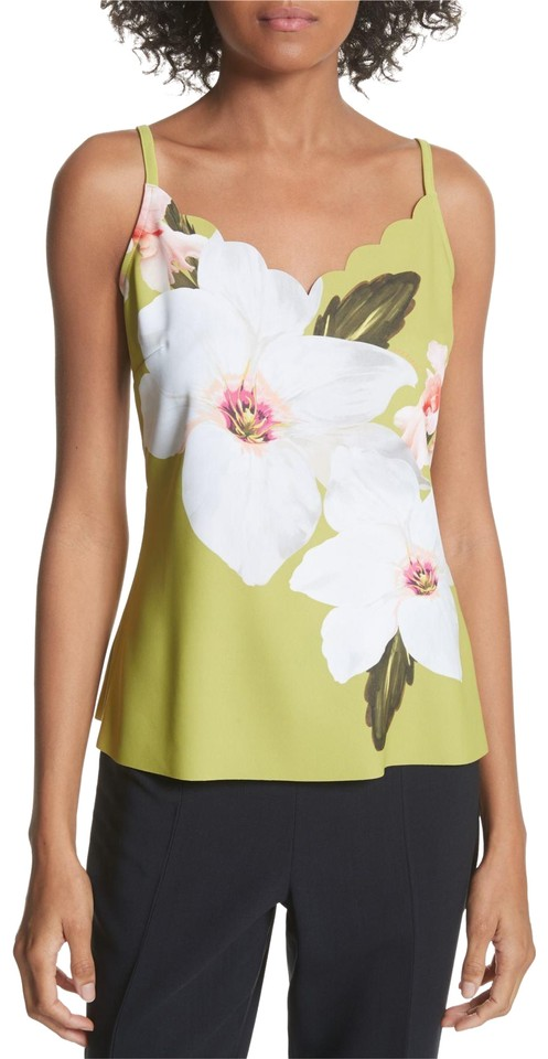 b055626bc405f6 Ted Baker Lt Green Chatsworth Scalloped Camisole Tank Top Cami Size ...
