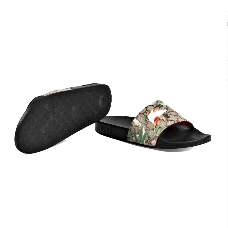 17c14bf8d06 Gucci Multicolor Women s Gg Supreme Tian Printed Slides Sandals Size US 8  Regular (M