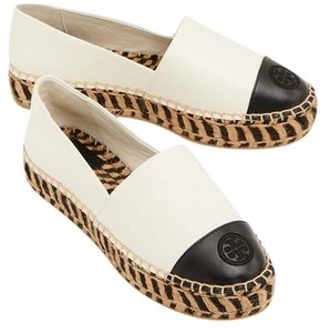 Tory Burch Perfect Ivory/Perfect Black Flats