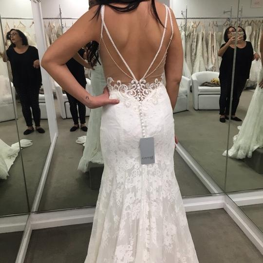 Lace Fit And Flare Wedding Gown: Eddy K Ivory Lace Fit And Flare Gown Sexy Wedding Dress