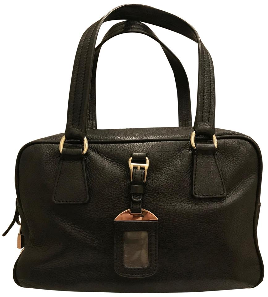 229865be4918f4 Prada Vintage Leather Rare Satchel in Black Image 0 ...