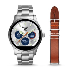 Fossil Fossil Men's Q x Cory Richards Silver Touch Smartwatch FTW2120