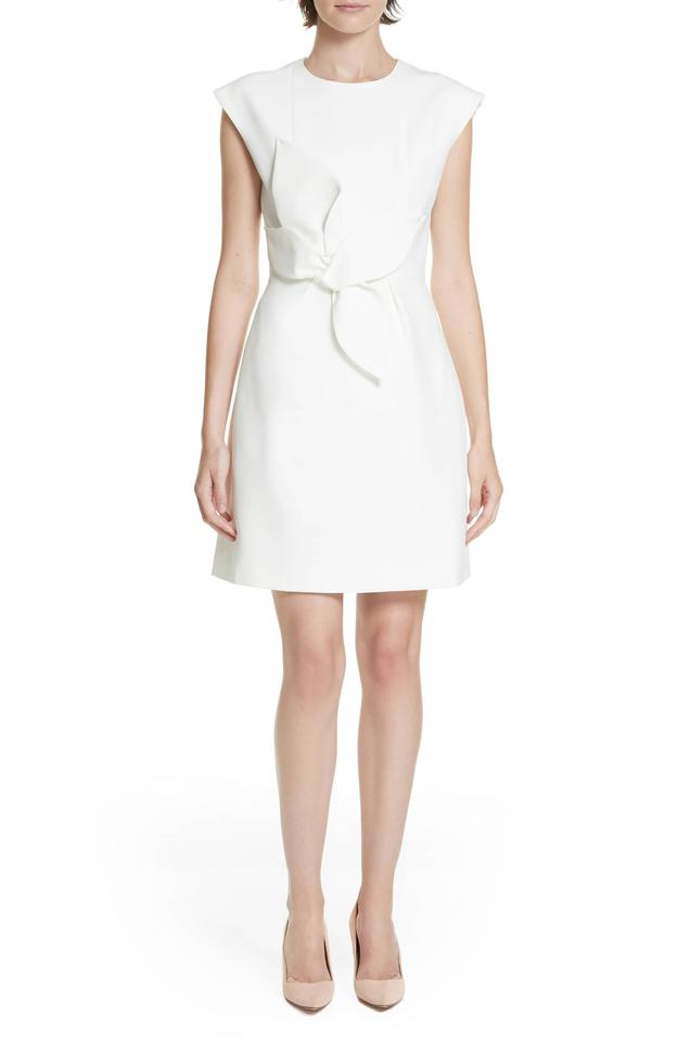 e5e072eda3a884 Ted Baker Cream Ppollyd Structured Bow Short Casual Dress Size 6 (S ...