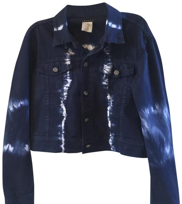 Item - Navy Tie Dye Made In Italy Jacket Size 12 (L)