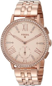 Fossil Fossil Women's Gazer Rose Gold Steel Hybrid Smart Watch 41MM FTW1106