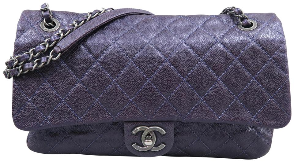 156026ef593673 Chanel Single Flap Calfskin Easy Flap Shoulder Bag Image 0 ...