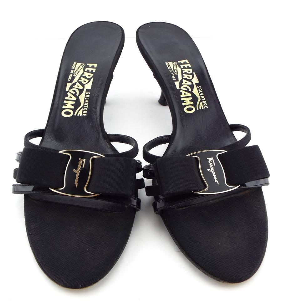 5dc8d91ca5d7 Salvatore Ferragamo Vara Strappy Glory Open Toe Gavina Black Sandals Image  0 ...