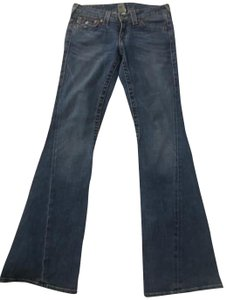 True Religion Casual Buttonpockets Boot Cut Jeans-Medium Wash
