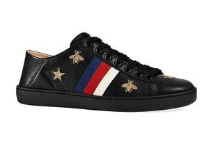4c16a1d8c012 Gucci Black Women s New Ace Embroidered Bee Sneakers Sneakers Size ...