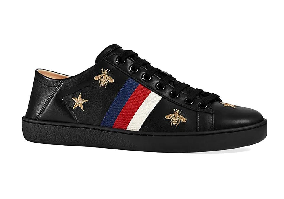 f65df2b99 Gucci Black Women's New Ace Embroidered Bee Sneakers Size US 9.5 ...