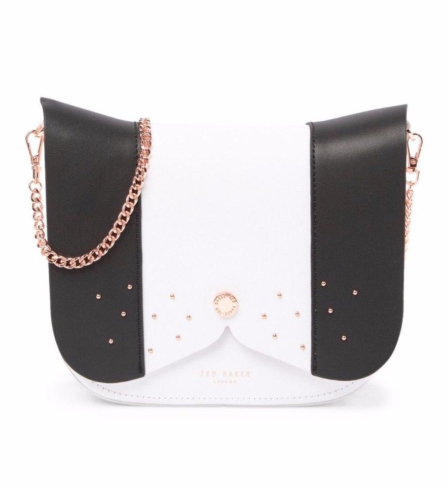 ff0d737648ba Ted Baker Barkley Dog Color Black White Leather Cross Body Bag - Tradesy