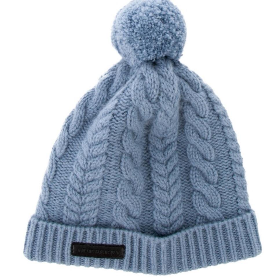 b7132a2ca8d Burberry Blue Children Cable Knit Beanie Hat - Tradesy