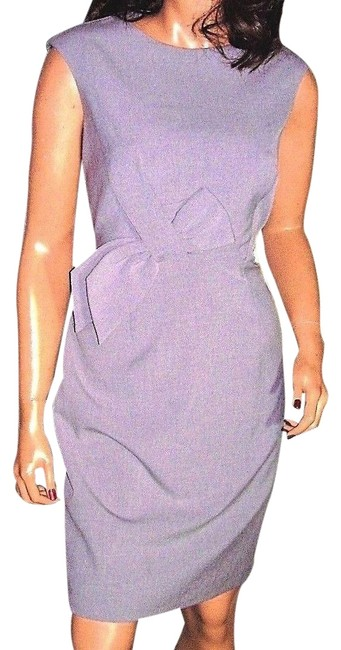 Item - Gray Wool with Bow Short Work/Office Dress Size 8 (M)