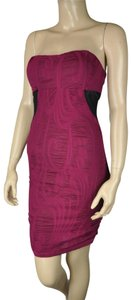 Dainty Hooligan Ruched Bodycon Purple Stretch Dress