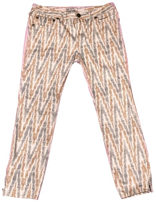 Free People Gold Gray Cream Pattern Skinny Jeans Size 8 (M, 29, 30) Free People Gold Gray Cream Pattern Skinny Jeans Size 8 (M, 29, 30) Image 1