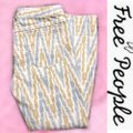 Free People Gold Gray Cream Pattern Skinny Jeans Size 8 (M, 29, 30) Free People Gold Gray Cream Pattern Skinny Jeans Size 8 (M, 29, 30) Image 2