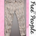 Free People Gold Gray Cream Pattern Skinny Jeans Size 8 (M, 29, 30) Free People Gold Gray Cream Pattern Skinny Jeans Size 8 (M, 29, 30) Image 4