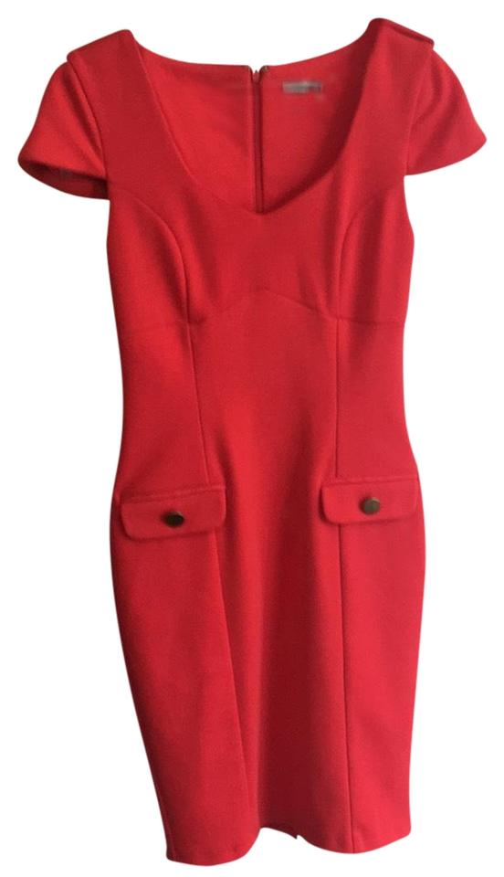 ASOS Red Curvy Mid-length Night Out Dress Size 6 (S) c1370241f