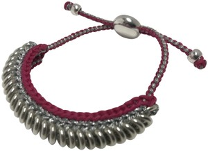 Links of London Sterling Silver and Pink Cord Friendship Bracelet