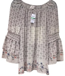 Style & Co Top beige with pattern