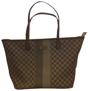 Kate Spade Tote in gray and white