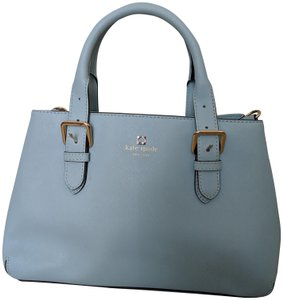 Kate Spade Leather Satchel in Baby Blue