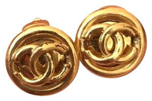 Chanel Chanel CC Vintage Round Earrings