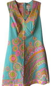 Julie Brown short dress Multi Colored - Pink/Yellow/Orange/Teal/White on Tradesy