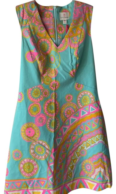 Item - Multi Colored - Pink/Yellow/Orange/Teal/White Nyc Short Casual Dress Size 2 (XS)