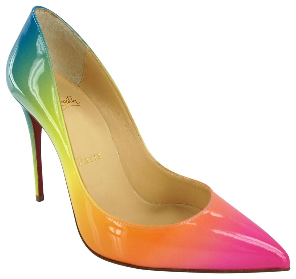 255e62f759e Christian Louboutin Multicolor Sunrise Pigalle Follies 100 Patent Leather  Rainbow Heels Pumps Size EU 35 (Approx. US 5) Regular (M, B) 30% off retail