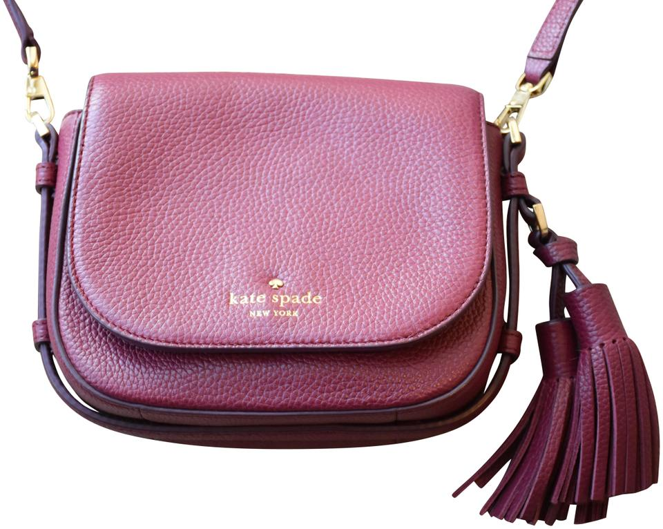 a867a291b77d Kate Spade Orchard Street Small Penelope Red Leather Cross Body Bag ...