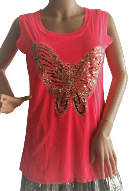 Item - Coral Butterfly Tank Top/Cami Size 10 (M)