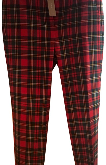 Item - Red Plaid Cameron Pants Size 6 (S, 28)